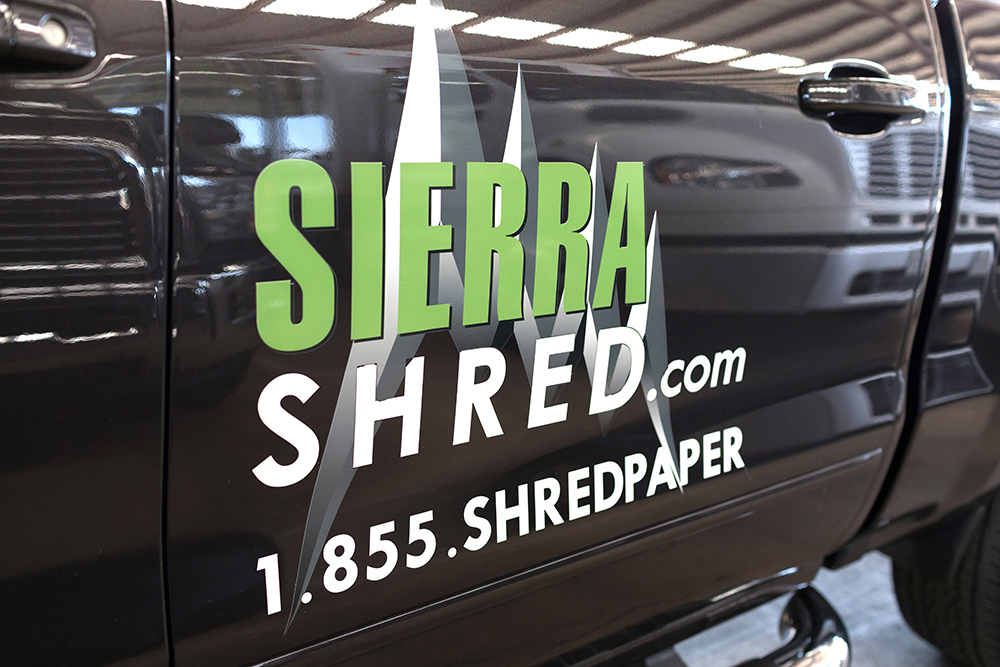 Sierra Shred on side of the car contact