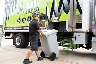 Our Shred Truck and Service Technician
